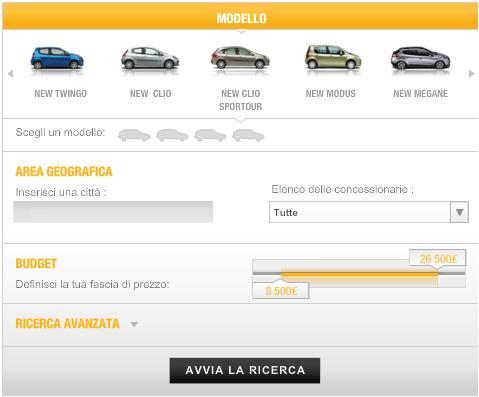 cerca l'auto Renault in pronta consegna