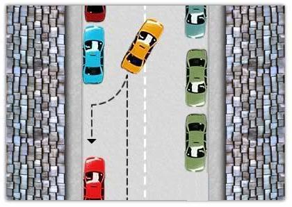 Manovra di parcheggio in retromarcia lato guida