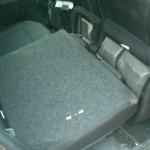 sedile posteriore sdoppiato e ribaltato nuova clio