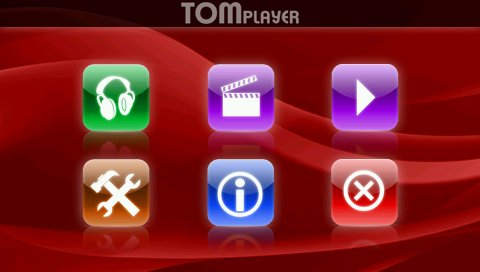 menu tomplayer sul carminat tomtom