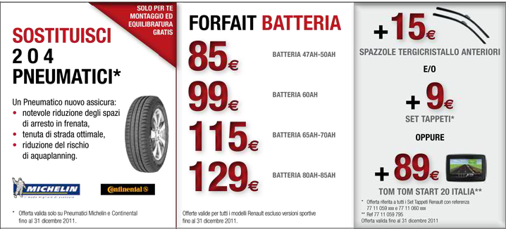 forfait renault gomme