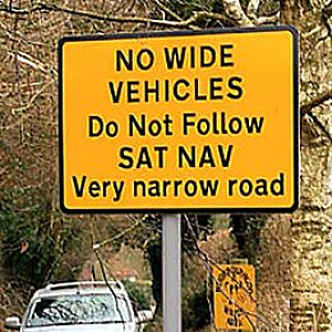 Non seguire le indicazioni del navigatore