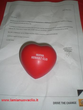 un cuore di gomma in regalo da MyRenault