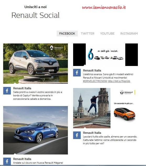 renault sui social network