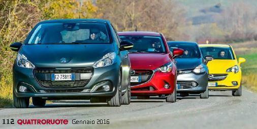 quattro auto a confronto