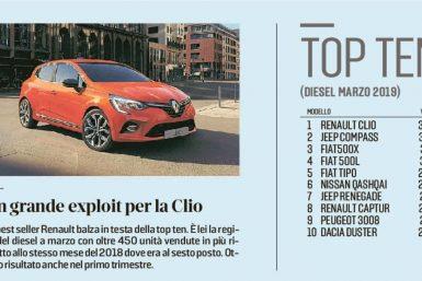 Record di vendite per la Renault Clio