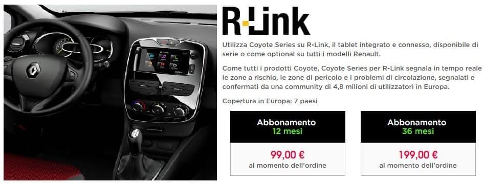 Coyote su R-Link Clio
