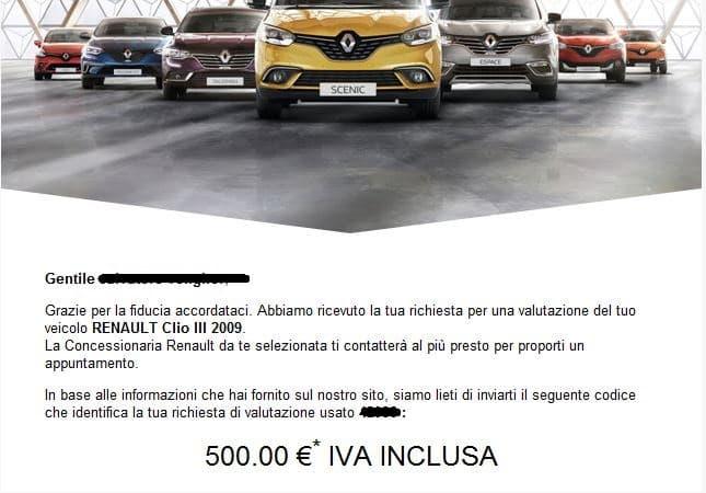 valutazione Renault Clio