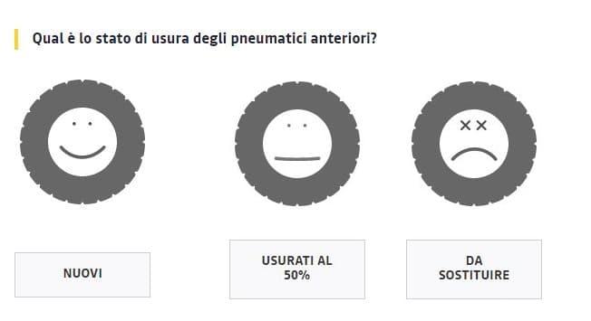 valutazione pneumatici auto usata